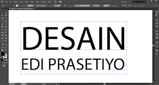 Cara Convert Text atau tulisan di adobe Illustrator