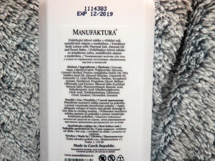 tělové mléko manufaktura, kosmetika s vřídelní solí