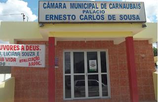 Resultado de imagem para foto da camara municipal de carnaubais