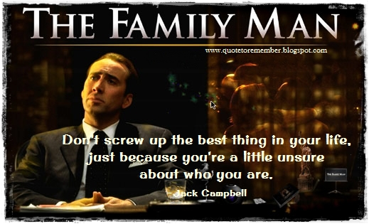 Quote to Remember: THE FAMILY MAN [2000]
