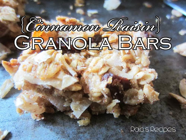 Cinnamon Raisin Granola Bars by Raia's Recipes