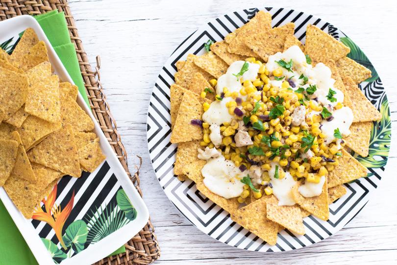 recette Tortillas au maïs et sauce au fromage