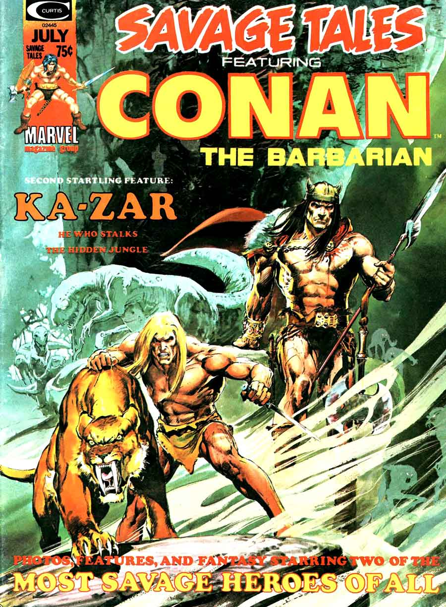 Savage Tales v1 #5 conan marvel comic book cover art by Neal Adams