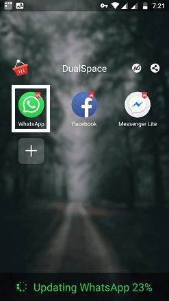 Open cloned WhatsApp