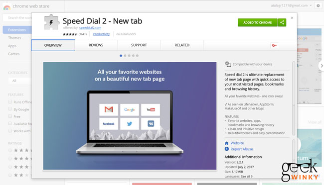 Speed Dial 2 | Best 10 Google Chrome Extension You Must Have