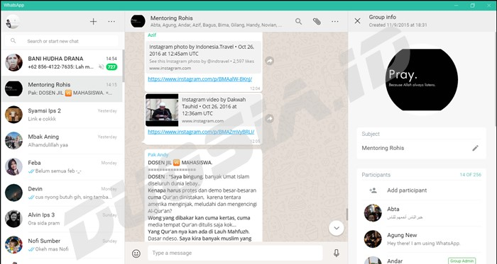 Whatsapp for PC Terbaru