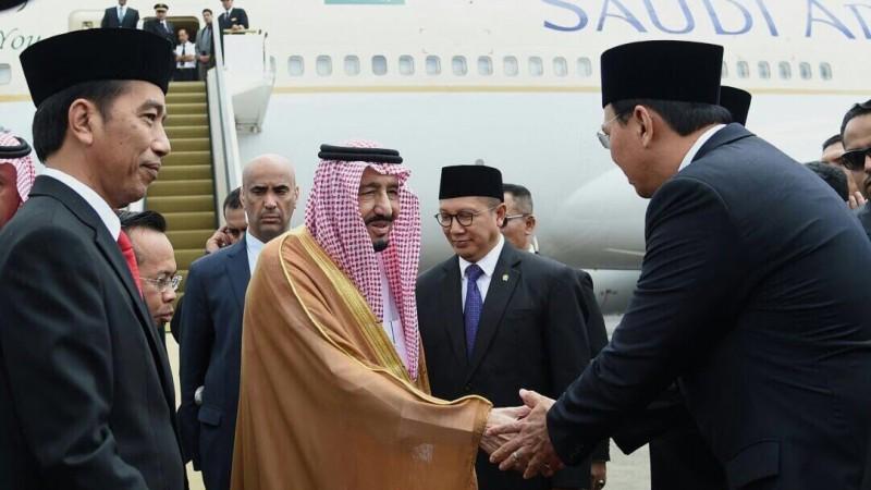 Foto Ahok bersalaman dengan Raja Salman di Halim Perdanakusuma