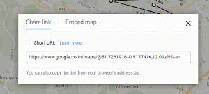 Google Maps short URL feature