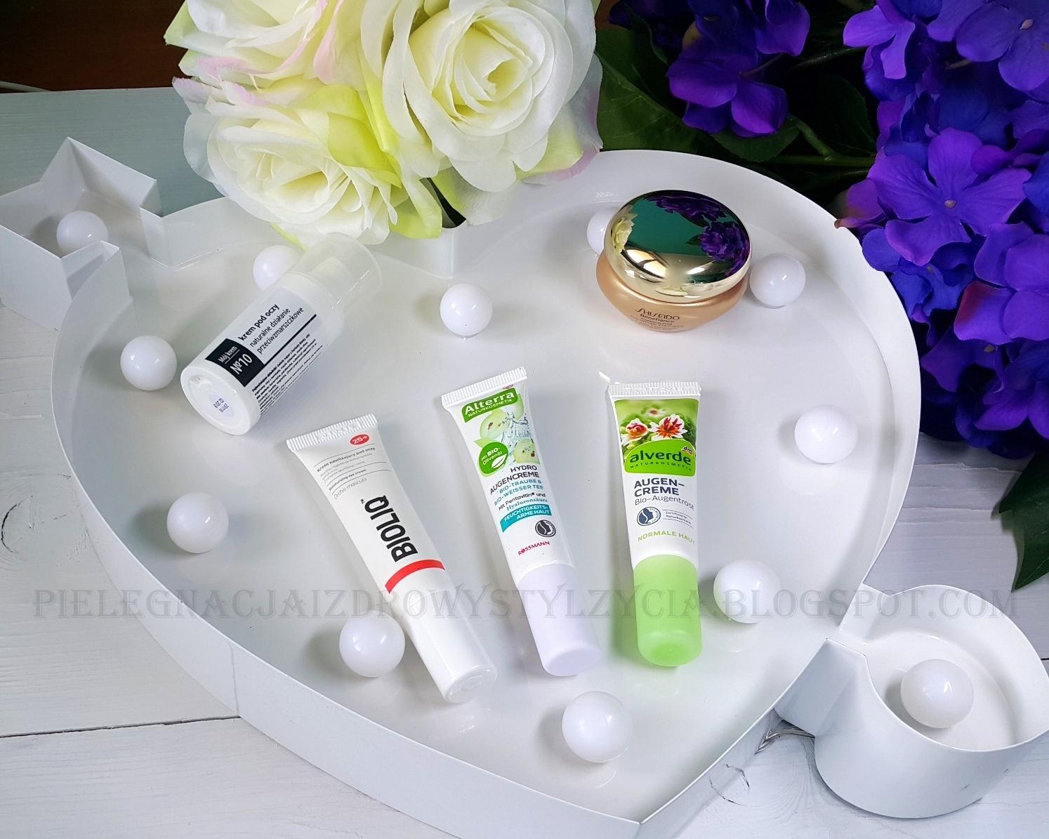 Krem pod oczy Shiseido, Fitomed, Bioliq, Alterra, Alverde