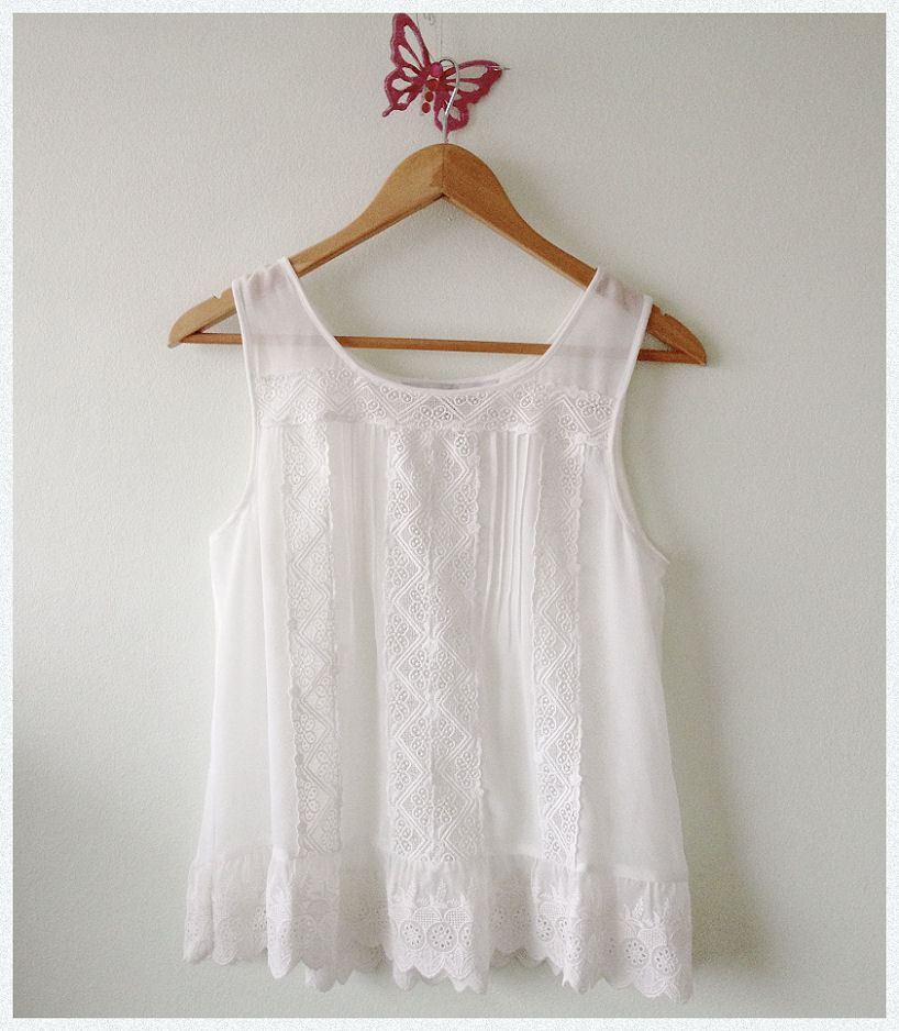 forever new white lace top