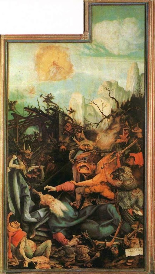 Matthias Grunewald, Macabre Art, Macabre Paintings, Horror Paintings, Freak Art, Freak Paintings, Horror Picture, Terror Pictures