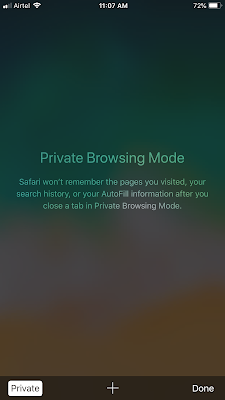 Enable Private Browser in safari mobile