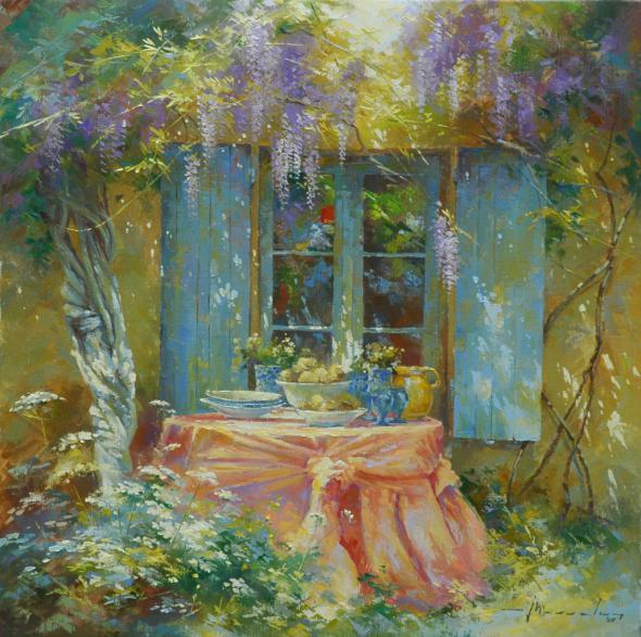 Johan Messely 1927 | Belgian painter | The Secret Gardens