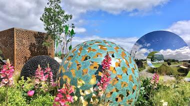 Esculturas en el jardín y en Chatsworth Flower Show 2017