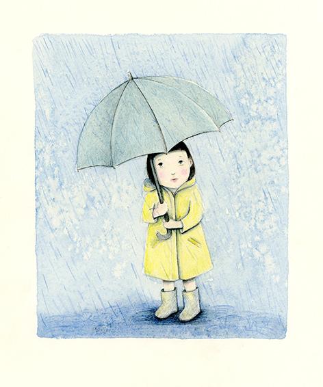 rain illustration yara dutra