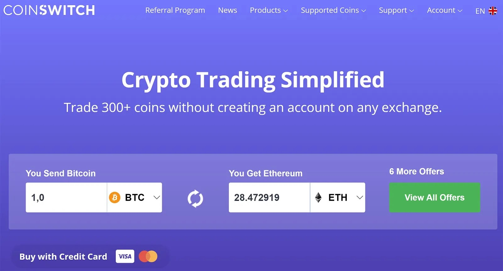 CoinSwitch.co, Bitcoin Brokerage