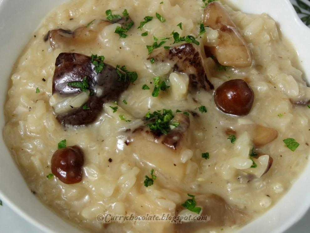 Risotto de setas con queso viejo - Mushroom risotto