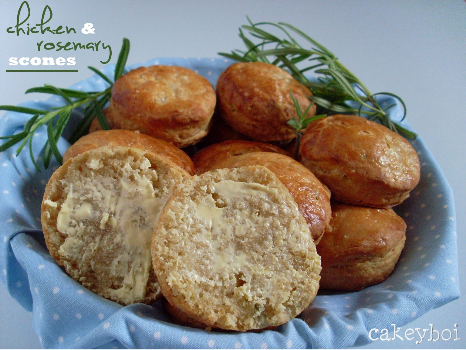 chicken and rosemary buttermilk scones