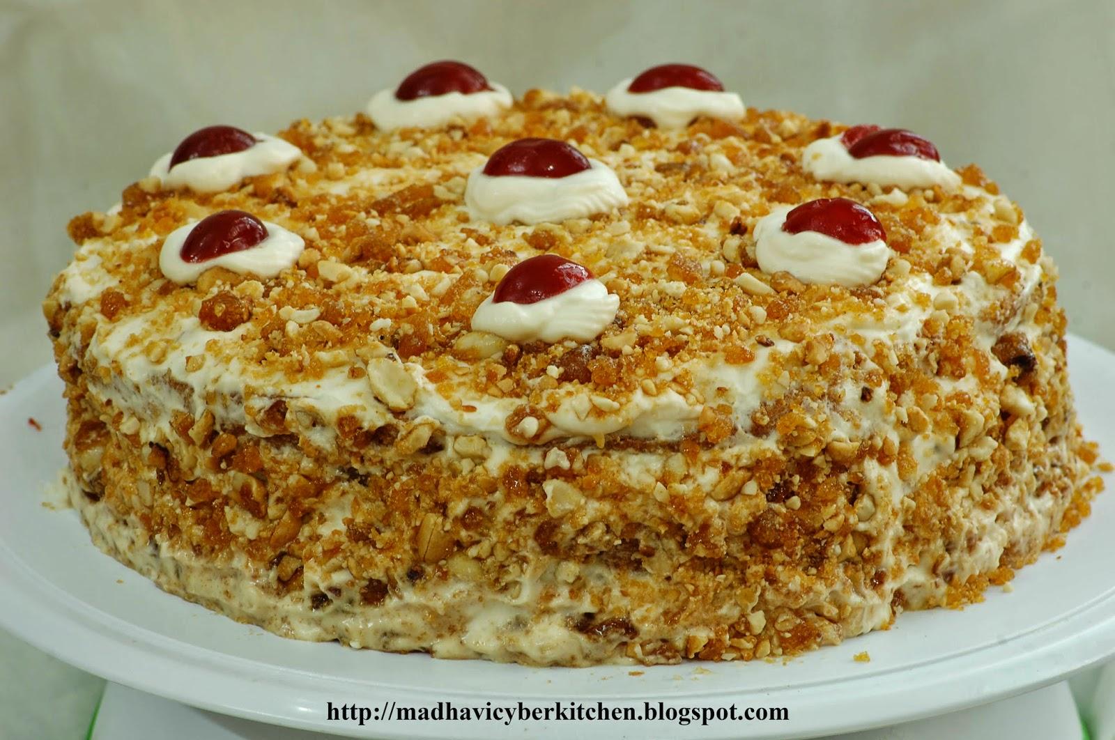 Butterscotch Cream Cake Recipe