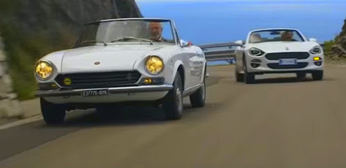 Classic Fiat 124 Sport Spider and New 124 Spider