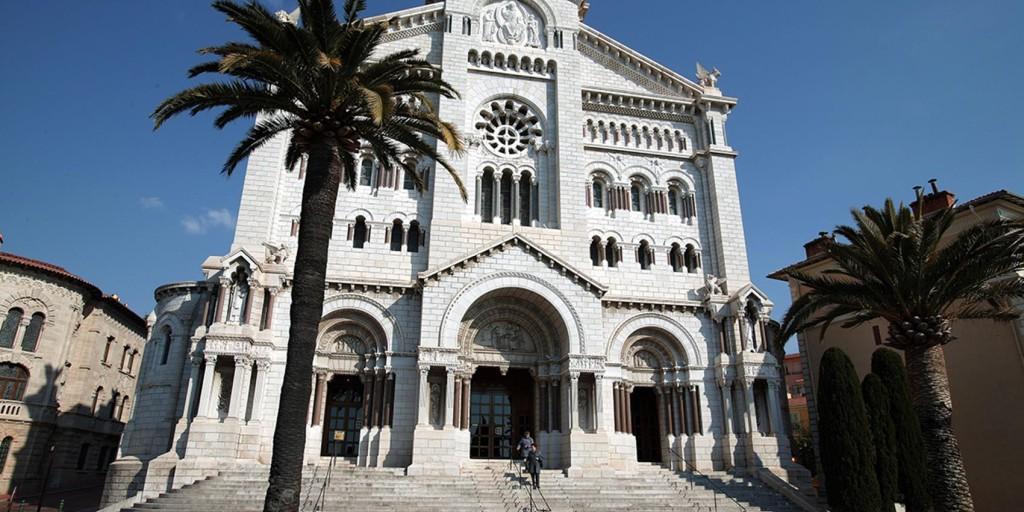 Roman style Monte Carlo Cathedral in Monaco.