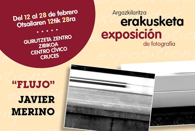Cartel de la exposición de Javier Merino