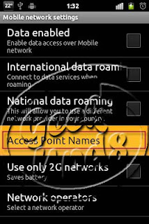 Android Access Point Settings