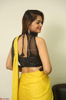 Cute Actress Ashwini in Yellow Saree Exclusive  056.JPG