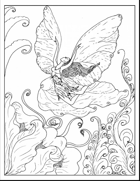 Spectacular Advanced Fairy Coloring Pages With Fairy Coloring Pages For  Adults And Gothic Fairy Coloring Pages