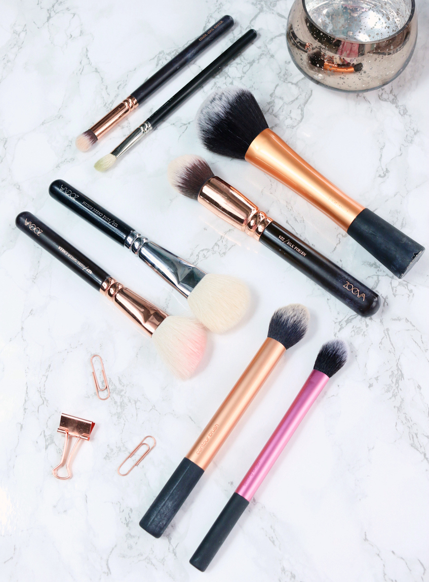 Most Used Makeup Brushes Real Techniques, Zoeva and MAC