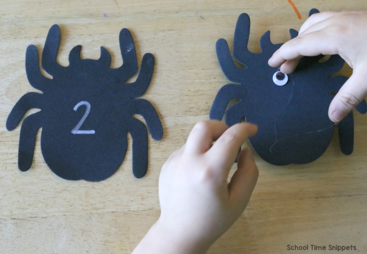 spider number matching activity