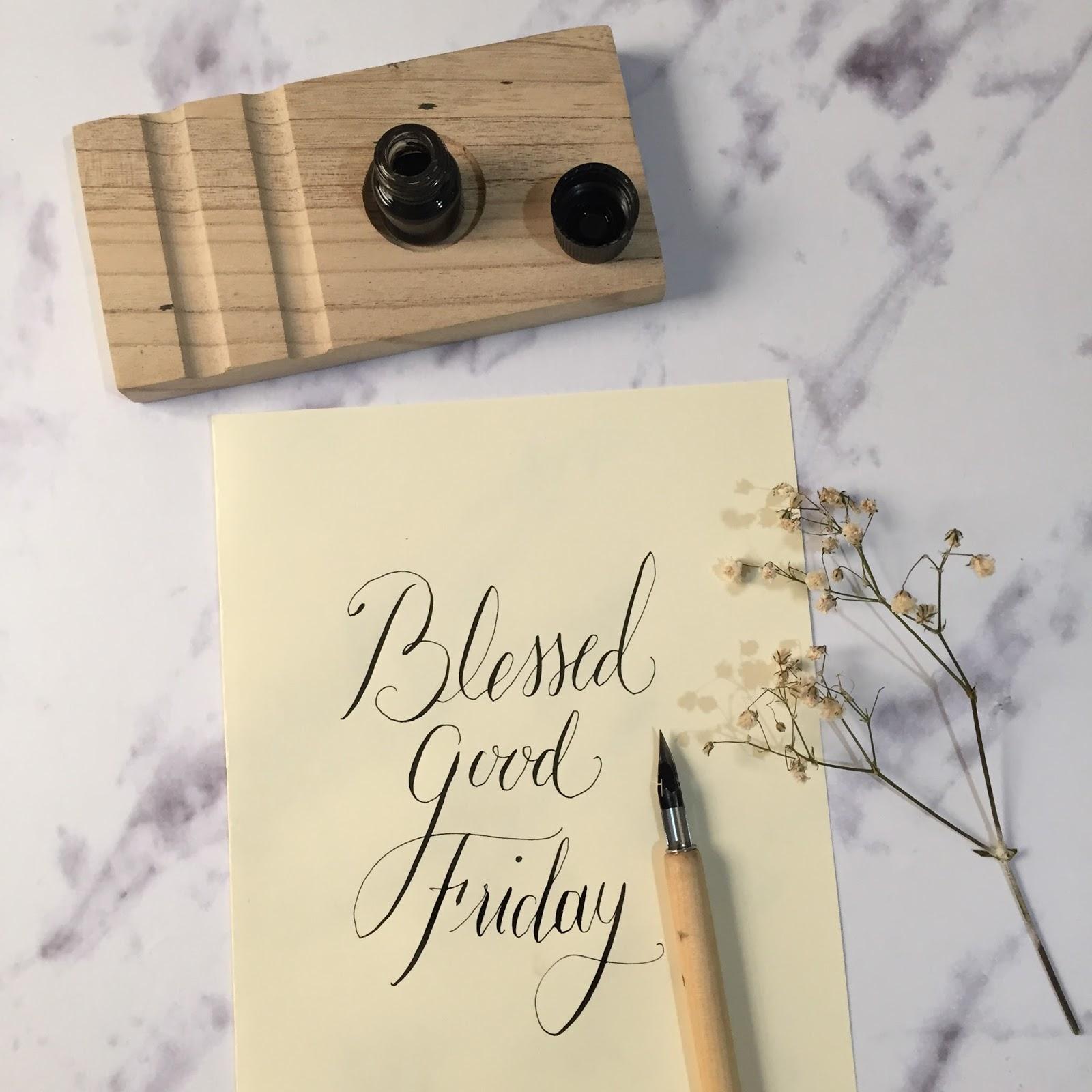 Calligraphy Good Friday