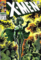 X-men v1 #50 marvel comic book cover art by Jim Steranko