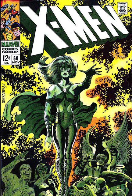 X-men v1 #50 marvel comic book cover art by Jim Steranko