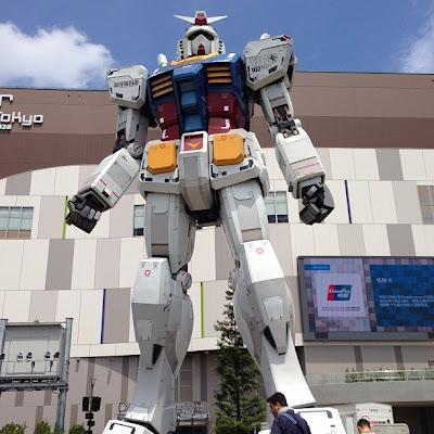 Voir le Gundam grandeur nature à Odaiba