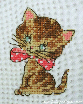Annoncez sa naissance, Création point de croix, сумка с вышивкой, котенок, вышивка крестом, hand made
