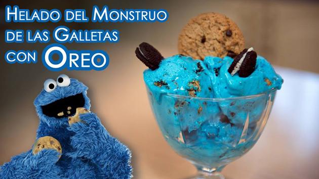 Helado Monstruo de las Galletas con Oreo y cookies