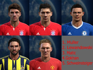 Facepack good quality x5 Pes 2013 By Vicen