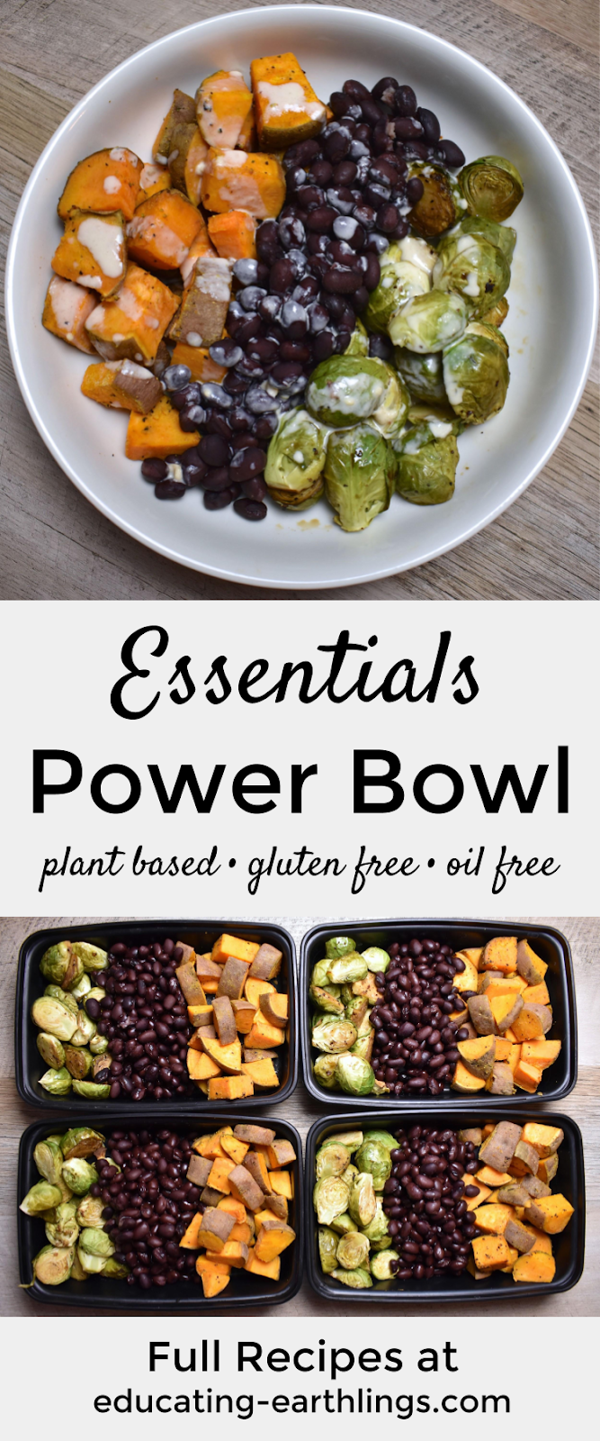 Essentials Power Bowl w/ Tahini Lime Drizzle