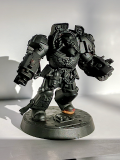 Space Marine terminator primed flat black.