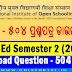 NIOS D.El.Ed: Semester 2 (2018) - 504 - Download Question paper (Odia)