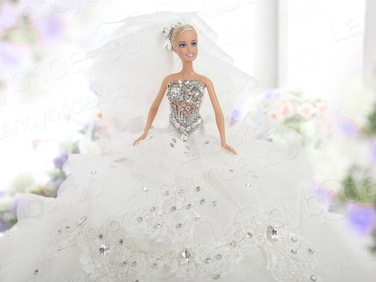 Wallpaper Autumn Barbie Wedding Gown Hd Wallpapers Free
