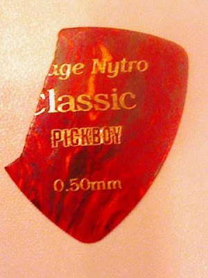 A guitar pick (American English) is a plectrum used for guitars.