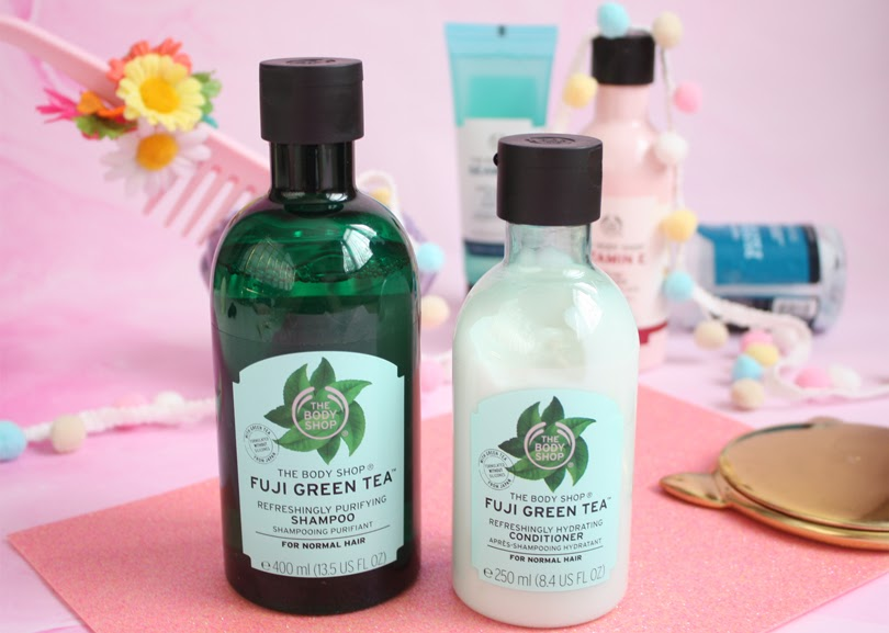 the body shop fuji green tea shampoo conditioner