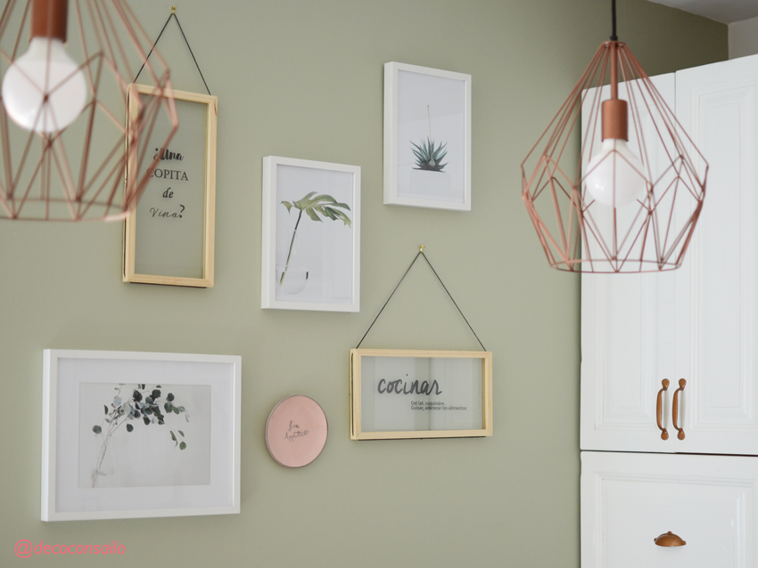 lampara cobre para decorar cocina