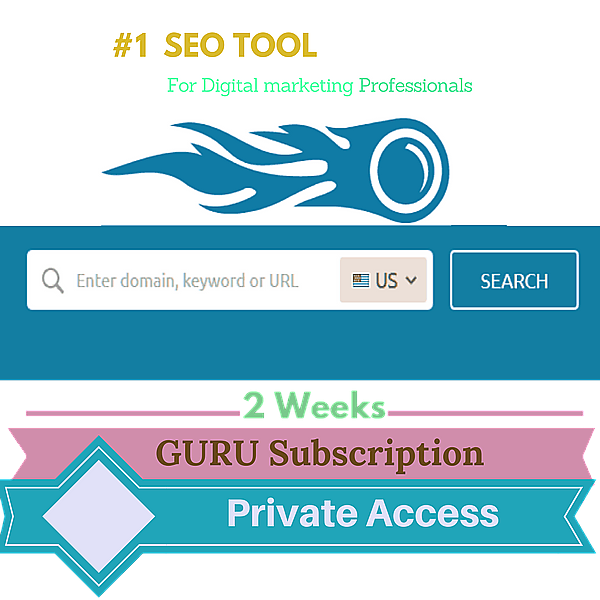 2 weeks Private Account Access (Guru Plan ) [Best SEO Tool]