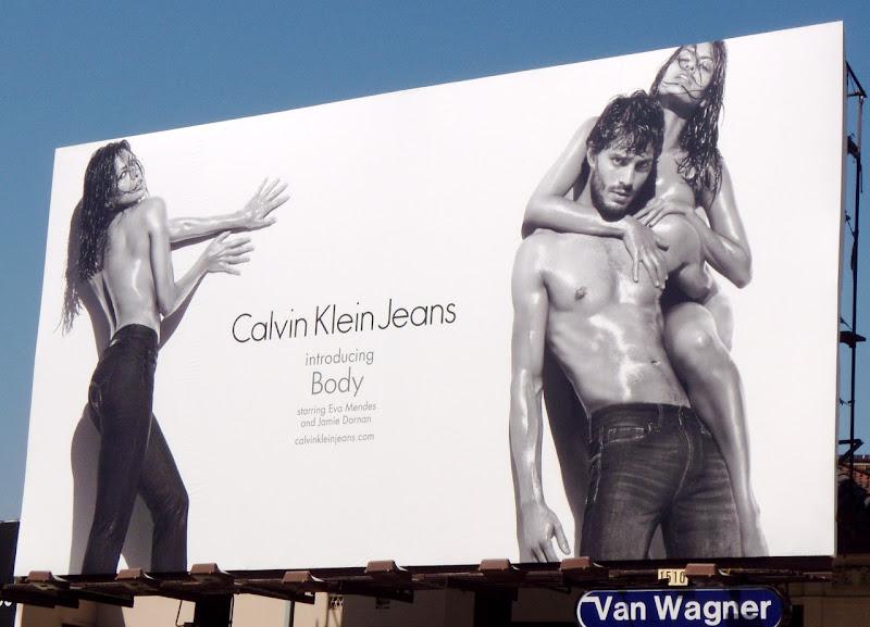 Eva Mendes Calvin Klein Jeans Body billboard