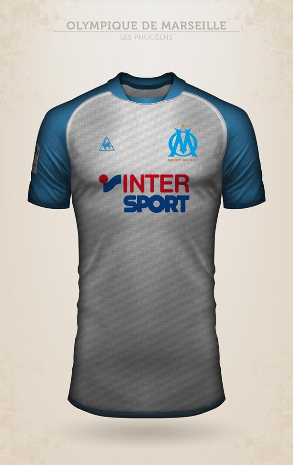 Projet de design du maillot de l'Olympique de Marseille avec Le Coq Sportif
