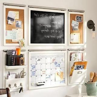Kitchen Message Board Organizer