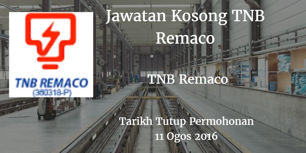 Jawatan Kosong TNB Remaco 11 Ogos 2016